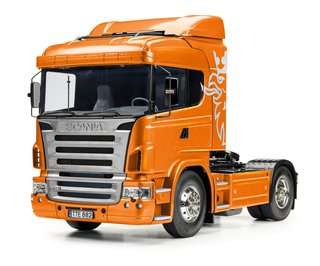 Tamiya 300056338 1:14 RC Scania R470 4x2 Orange met.Vorl.